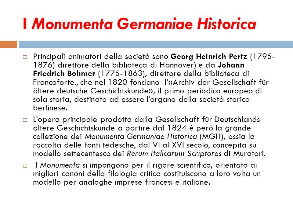 I Monumenta Germaniae Historica