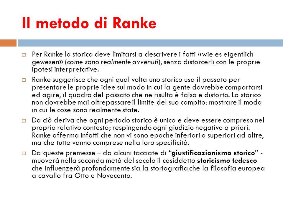 Il metodo di Ranke
