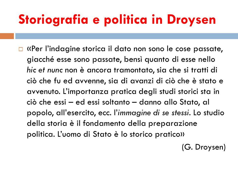 Storiografia e politica in Droysen