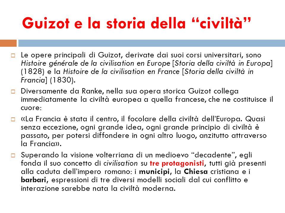 Guizot e la storia della civiltà