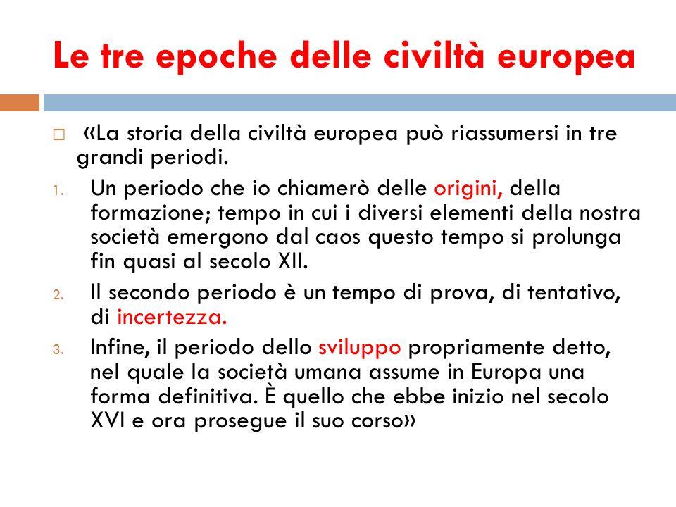 Le tre epoche delle civiltà europea