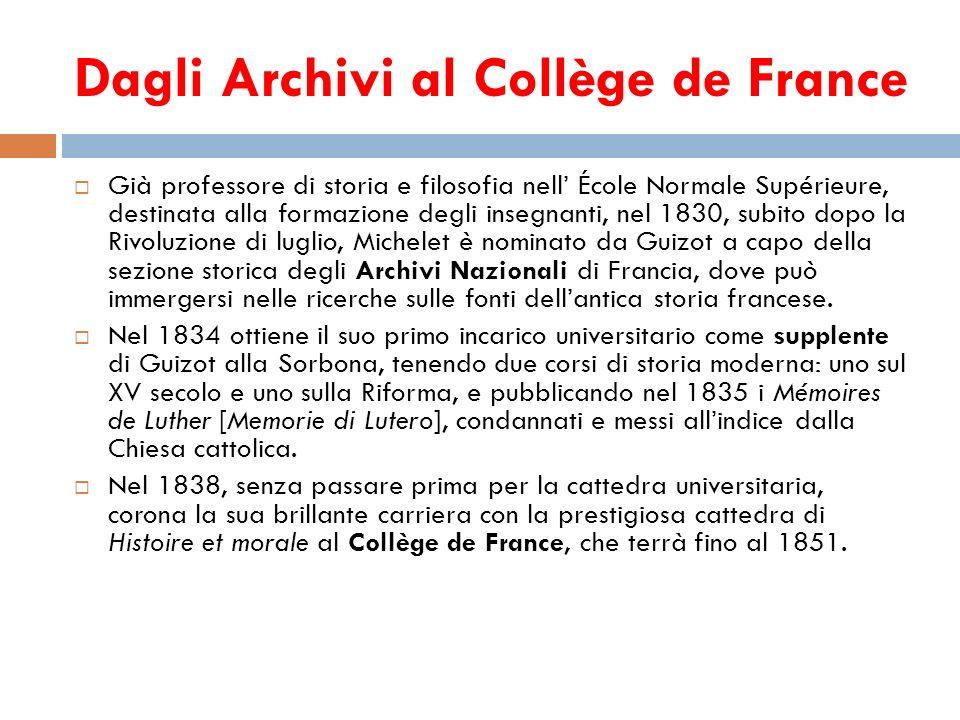 Dagli Archivi al Collège de France