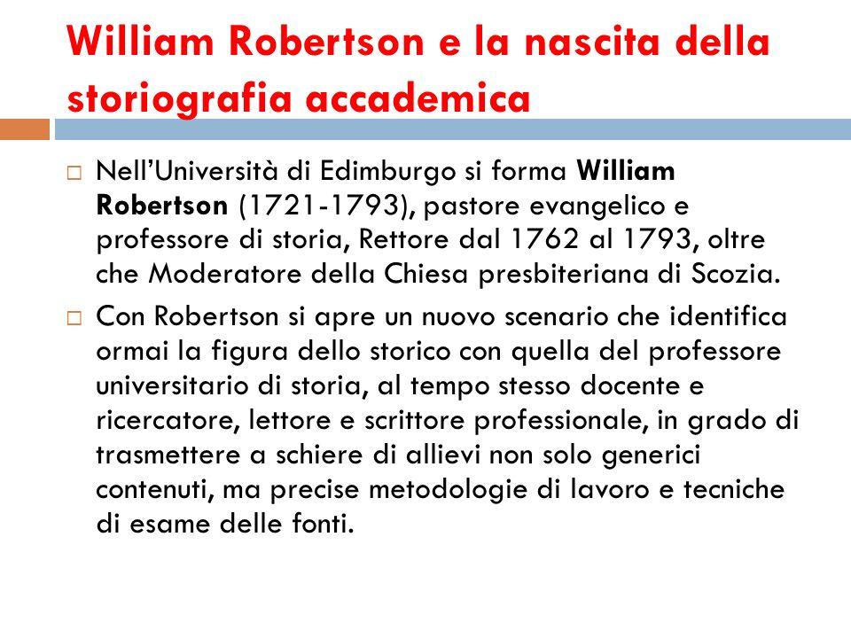 William Robertson e la nascita della storiografia accademica