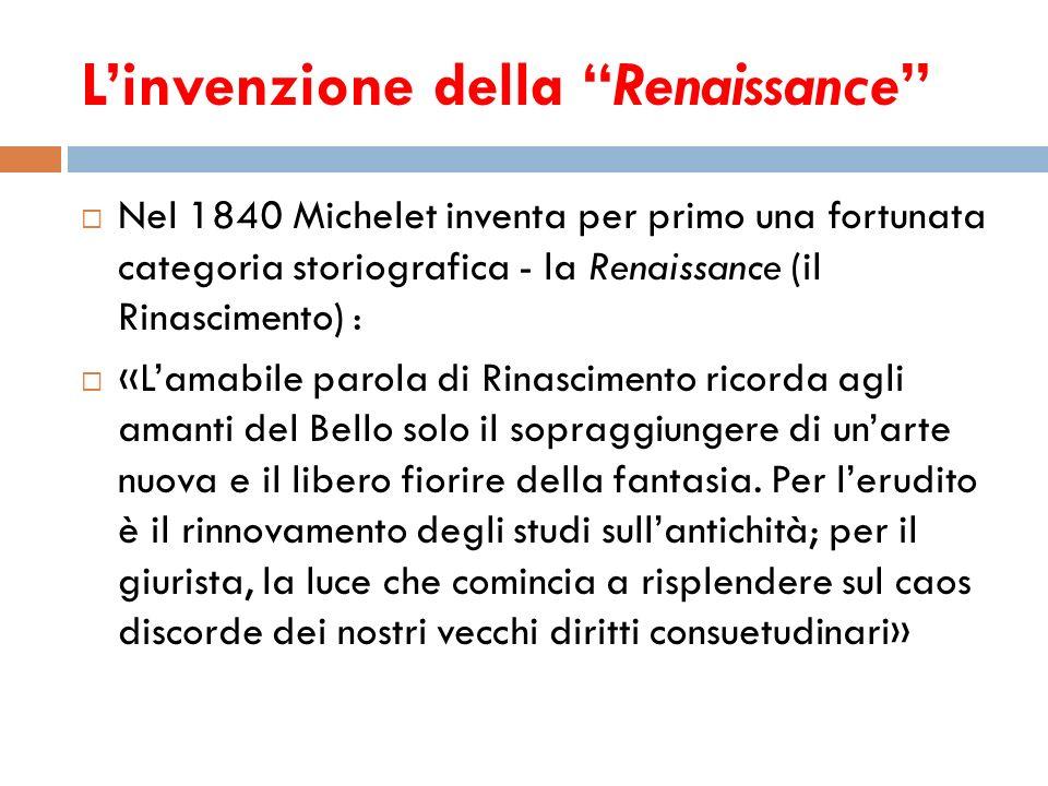 L'invenzione della Renaissance