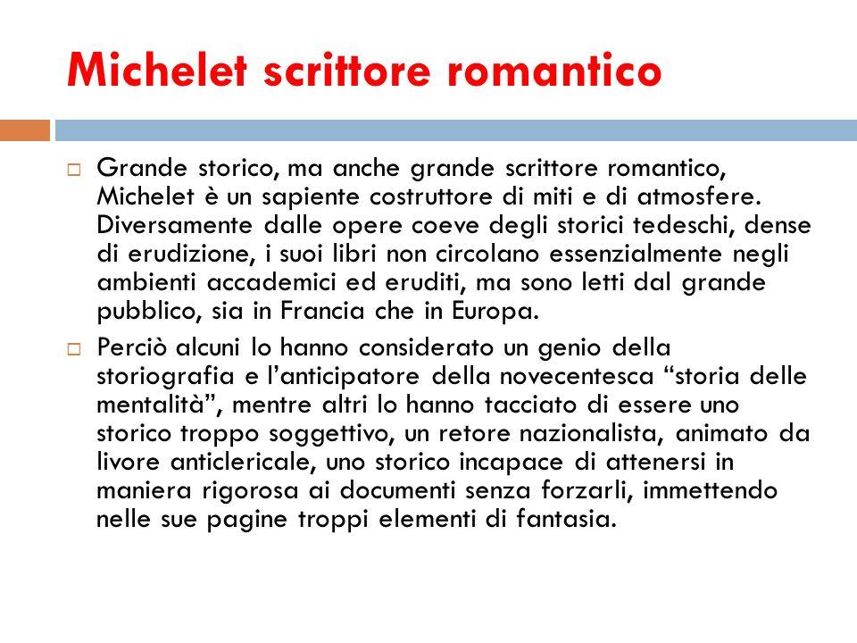 Michelet scrittore romantico