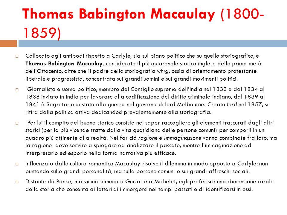 Thomas Babington Macaulay (1800-1859)