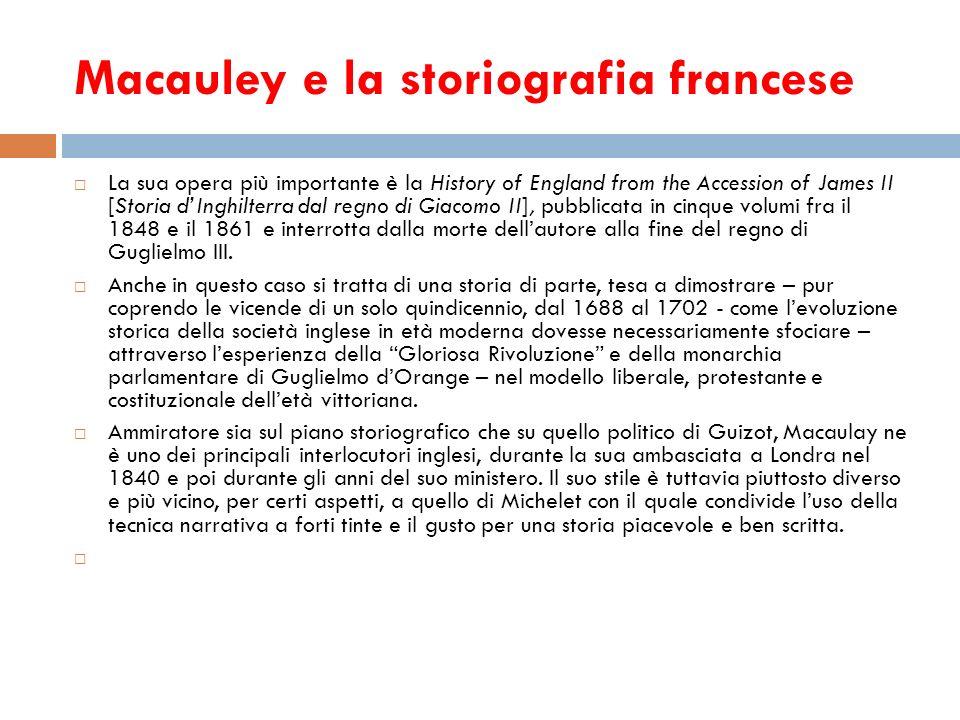 Macauley e la storiografia francese