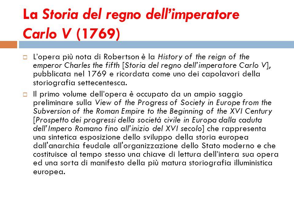 La Storia del regno dell'imperatore Carlo V (1769)