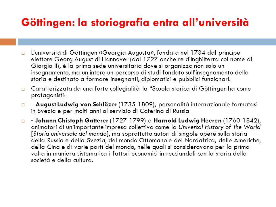 Göttingen: la storiografia entra all'università
