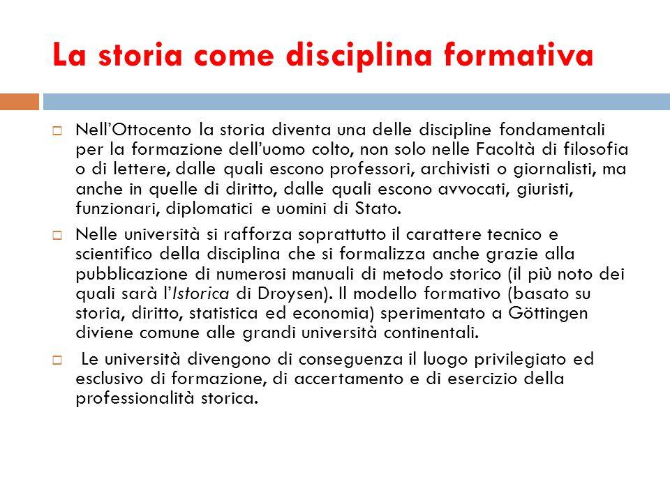 La storia come disciplina formativa
