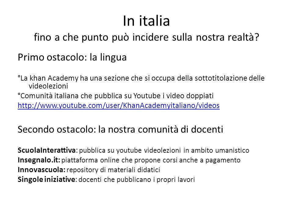 In italia fino a che punto può incidere sulla nostra realtà