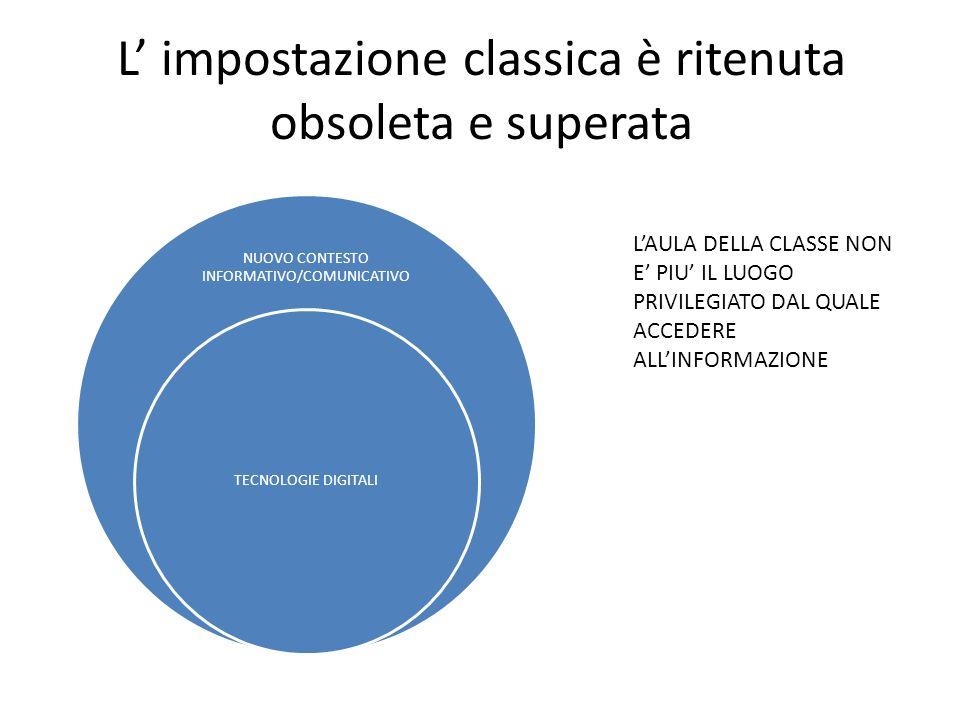 L' impostazione classica è ritenuta obsoleta e superata