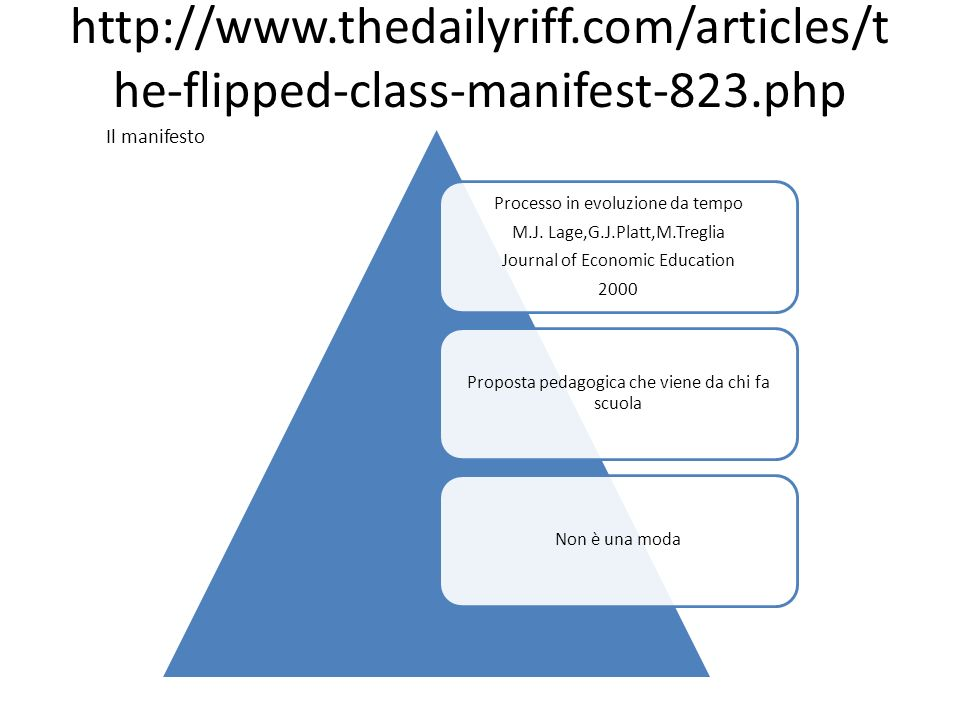 http://www. thedailyriff. com/articles/the-flipped-class-manifest-823