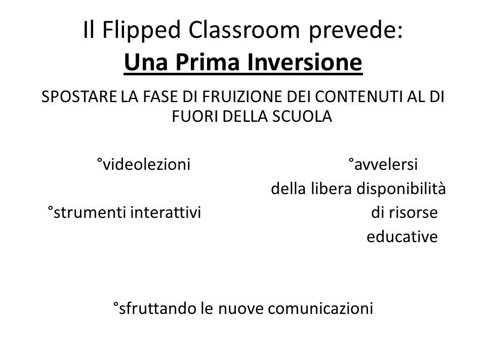 Il Flipped Classroom prevede: Una Prima Inversione