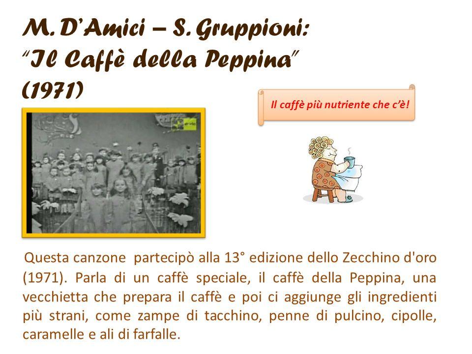 M. D'Amici – S. Gruppioni: Il Caffè della Peppina (1971)