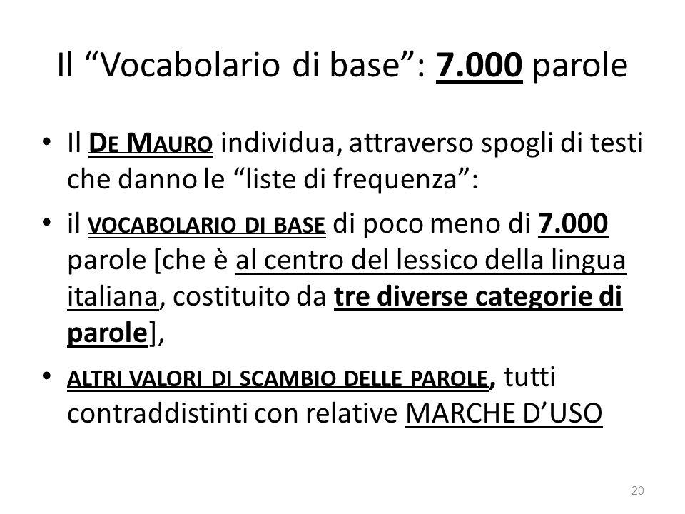 Il Vocabolario di base : 7.000 parole