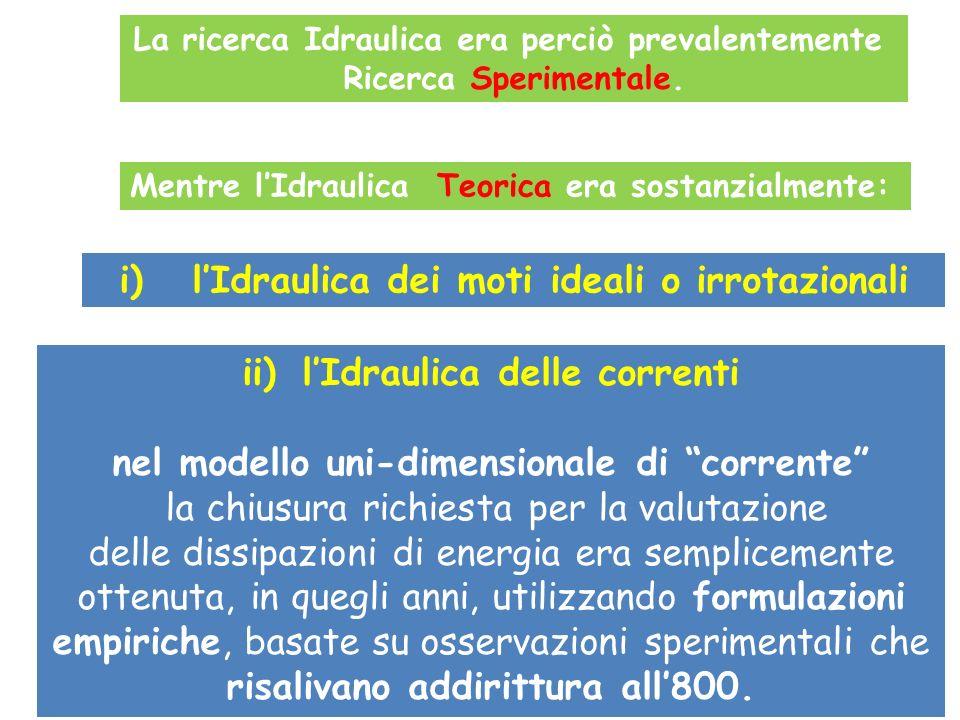 i) l'Idraulica dei moti ideali o irrotazionali