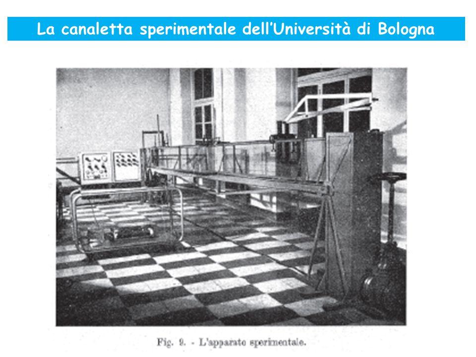 La canaletta sperimentale dell'Università di Bologna