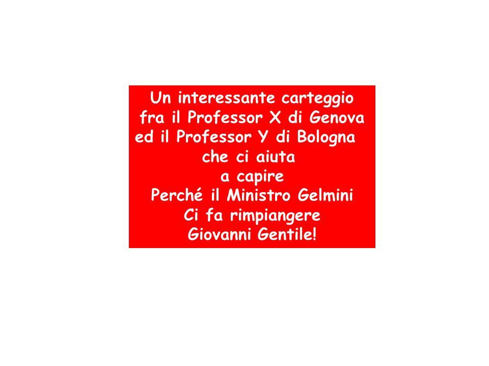 Un interessante carteggio fra il Professor X di Genova