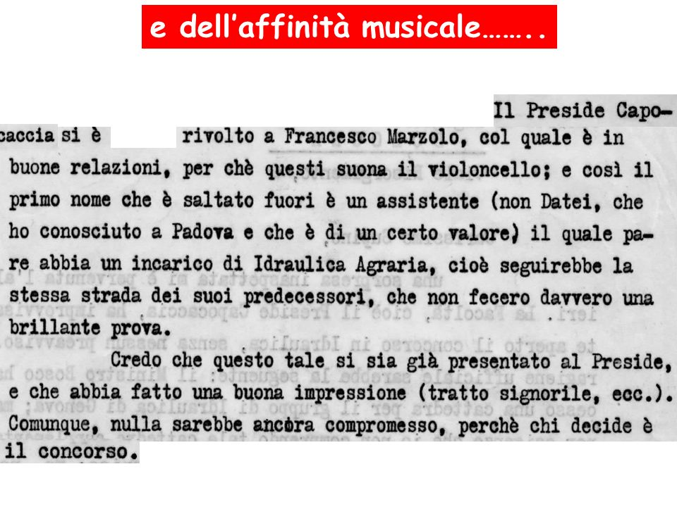 e dell'affinità musicale……..