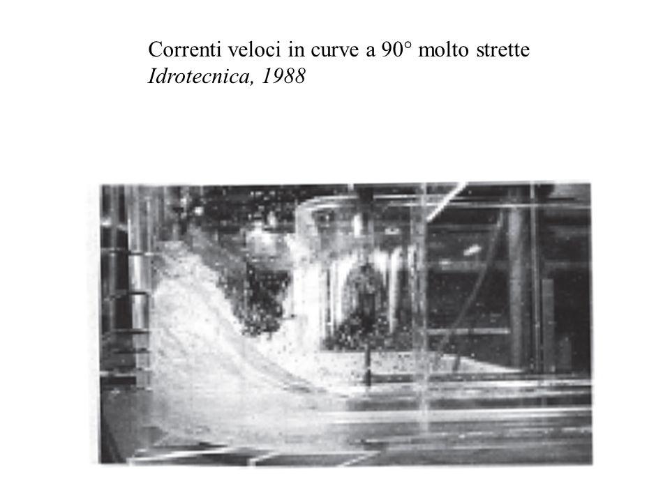 Correnti veloci in curve a 90° molto strette