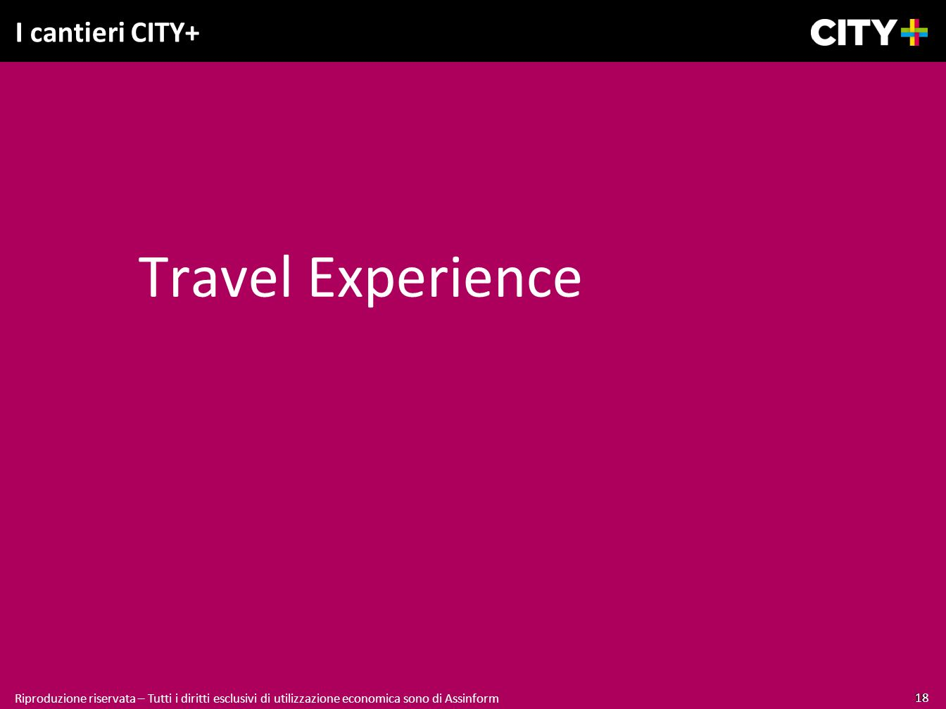 Travel Experience I cantieri CITY+ 18