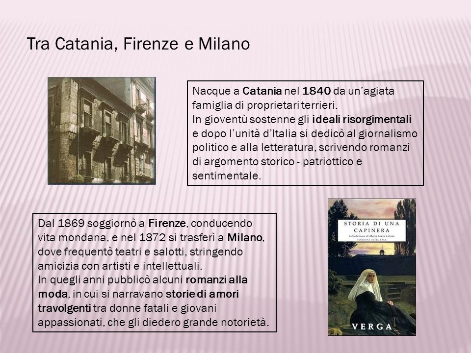 Tra Catania, Firenze e Milano