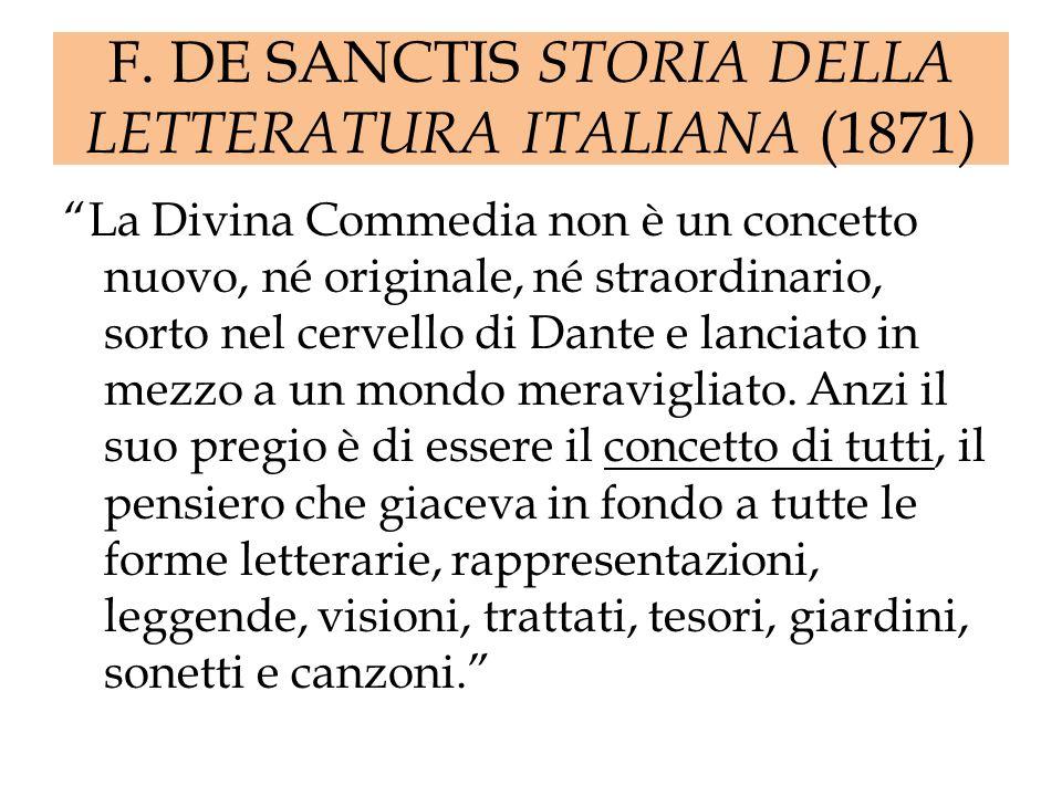 F. DE SANCTIS STORIA DELLA LETTERATURA ITALIANA (1871)