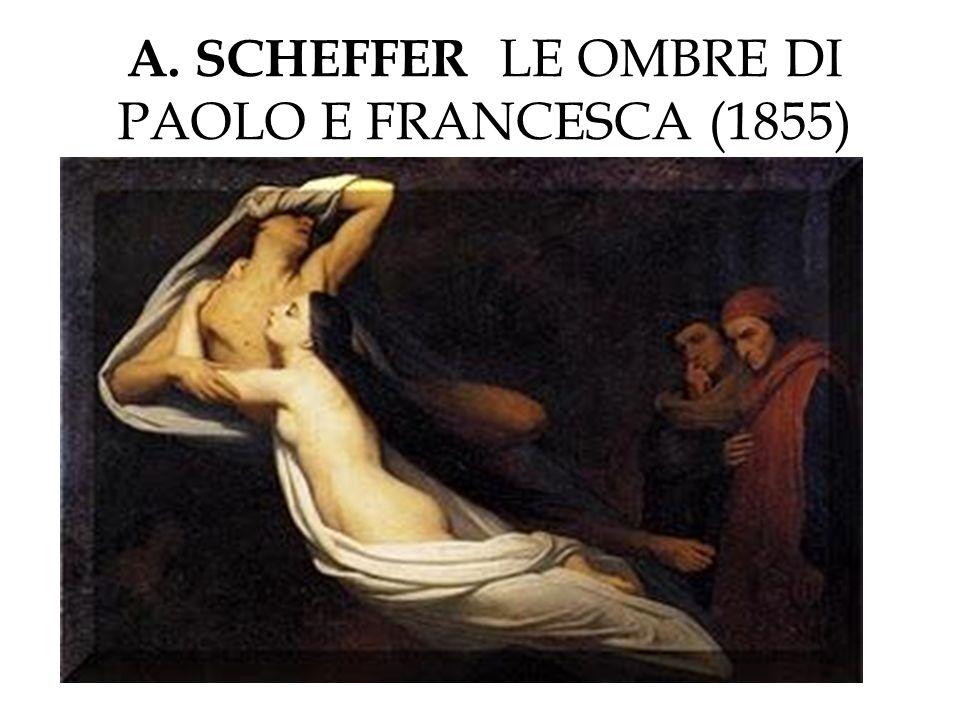 A. SCHEFFER LE OMBRE DI PAOLO E FRANCESCA (1855)