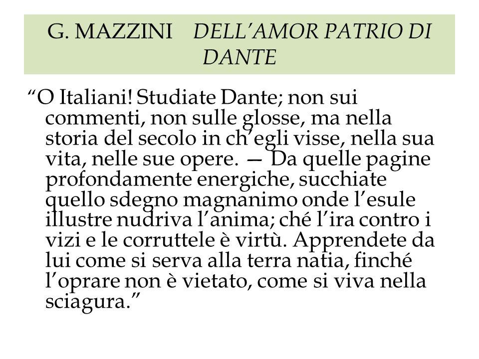 G. MAZZINI DELL'AMOR PATRIO DI DANTE
