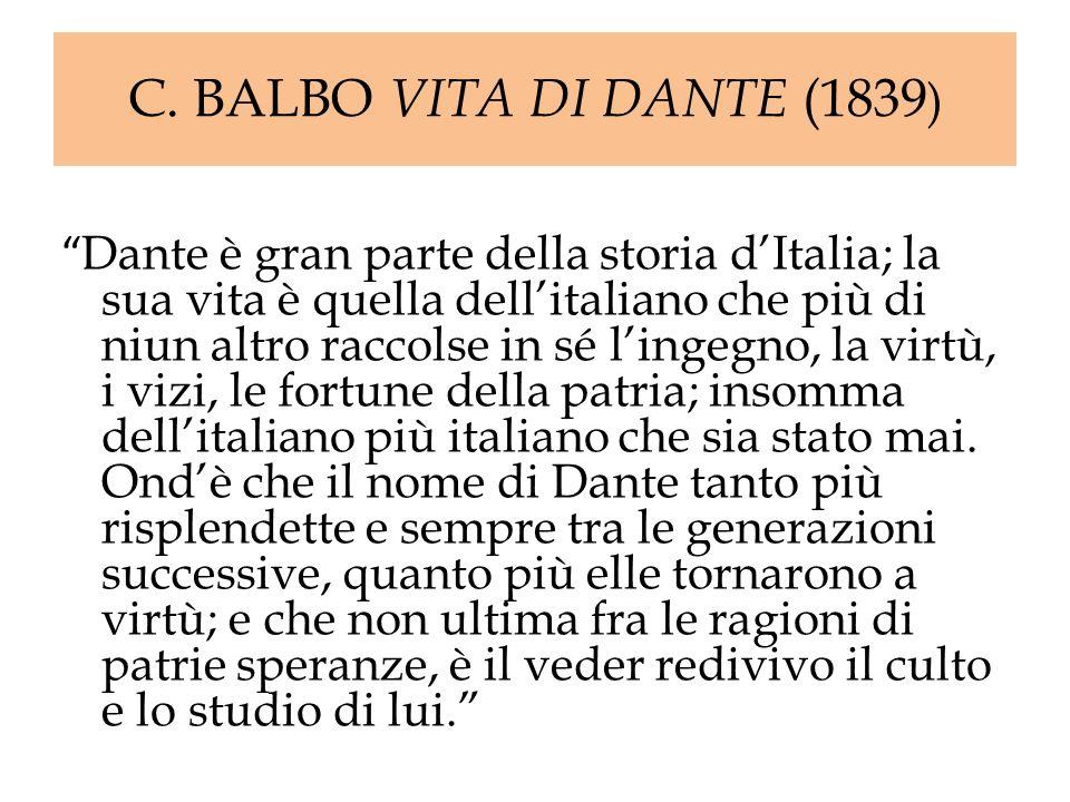 C. BALBO VITA DI DANTE (1839)