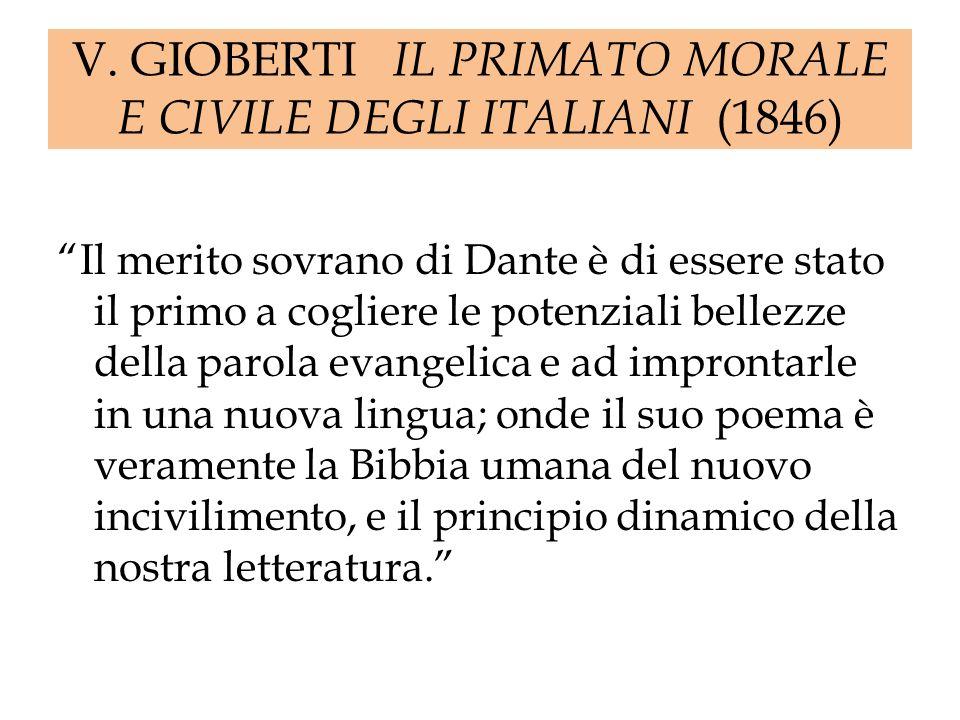V. GIOBERTI IL PRIMATO MORALE E CIVILE DEGLI ITALIANI (1846)