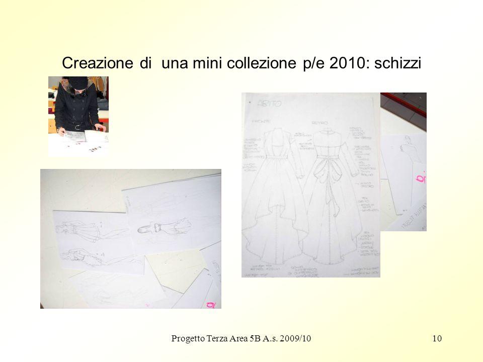 Creazione di una mini collezione p/e 2010: schizzi