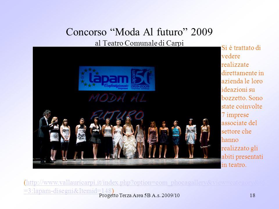 Concorso Moda Al futuro 2009 al Teatro Comunale di Carpi