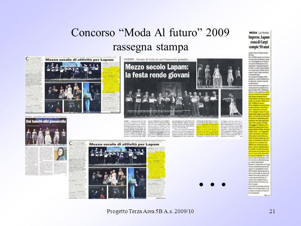 Concorso Moda Al futuro 2009 rassegna stampa