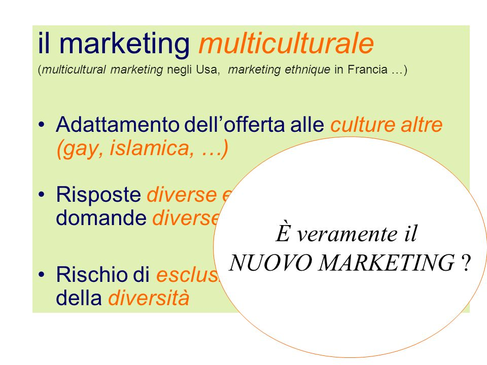 il marketing multiculturale