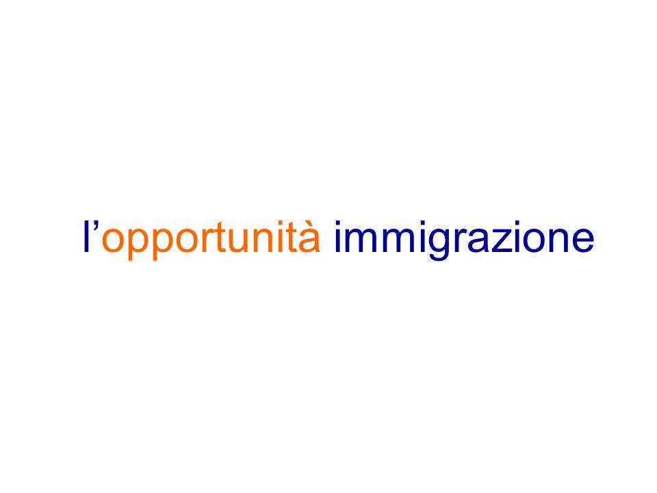 l'opportunità immigrazione