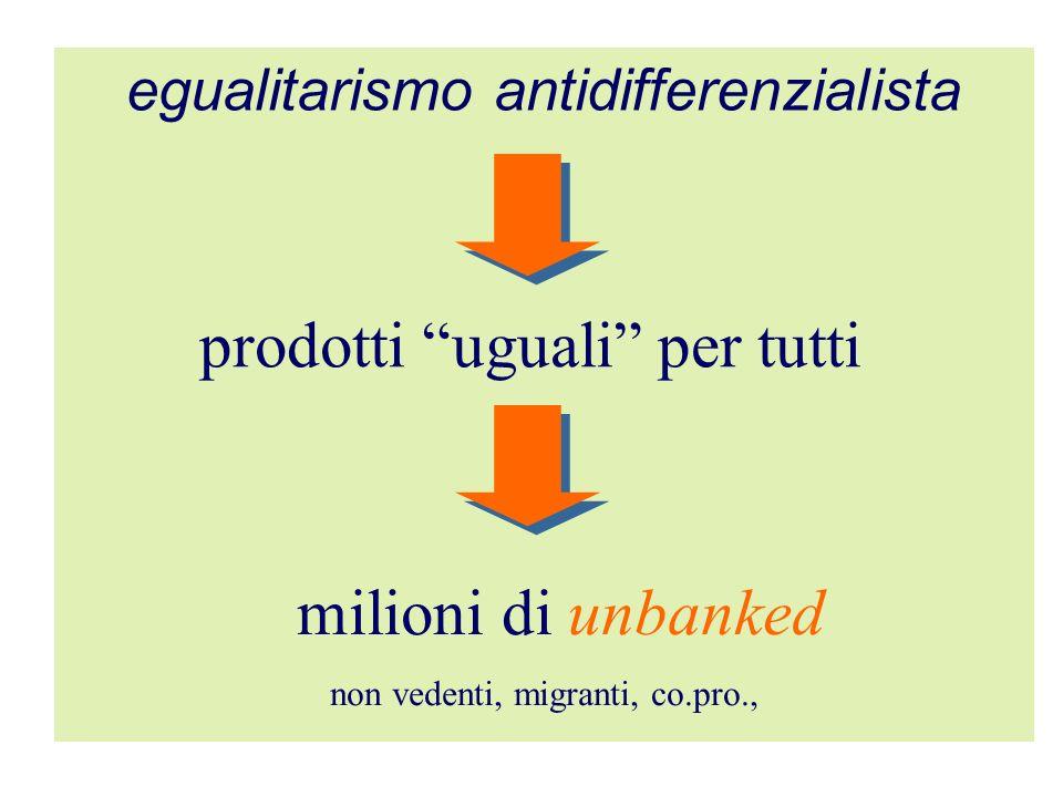 prodotti uguali per tutti