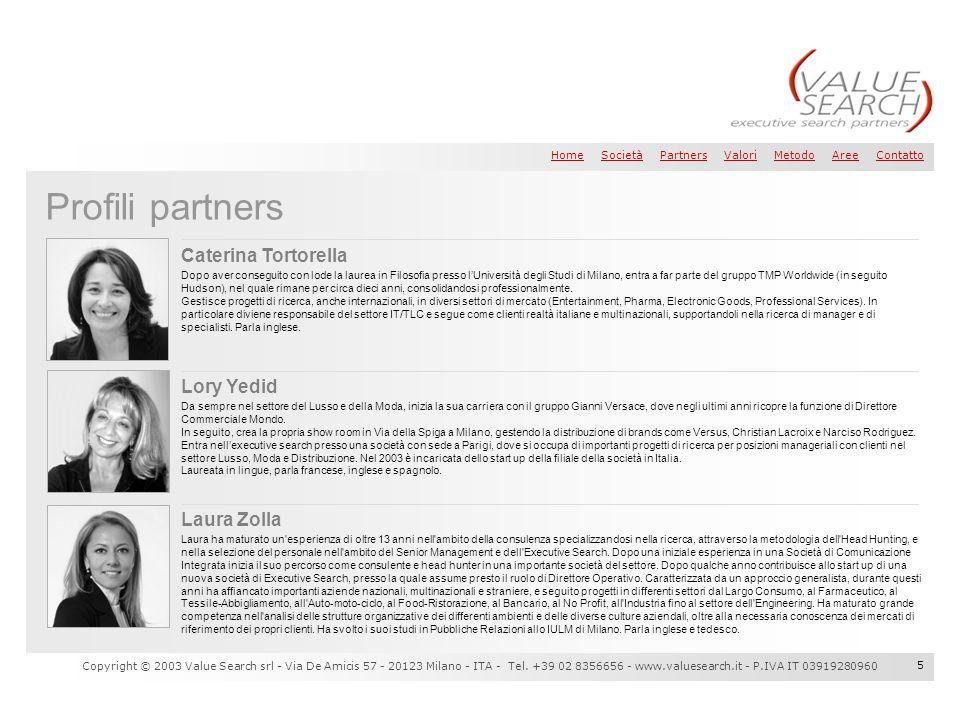 Profili partners Caterina Tortorella Lory Yedid Laura Zolla