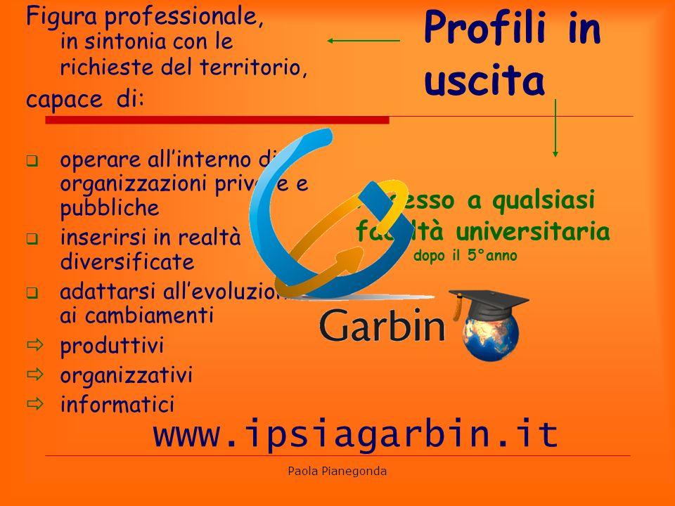 Profili in uscita www.ipsiagarbin.it