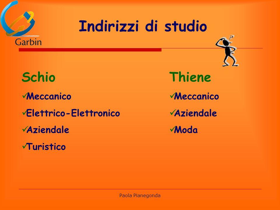 Indirizzi di studio Schio Thiene Meccanico Elettrico-Elettronico