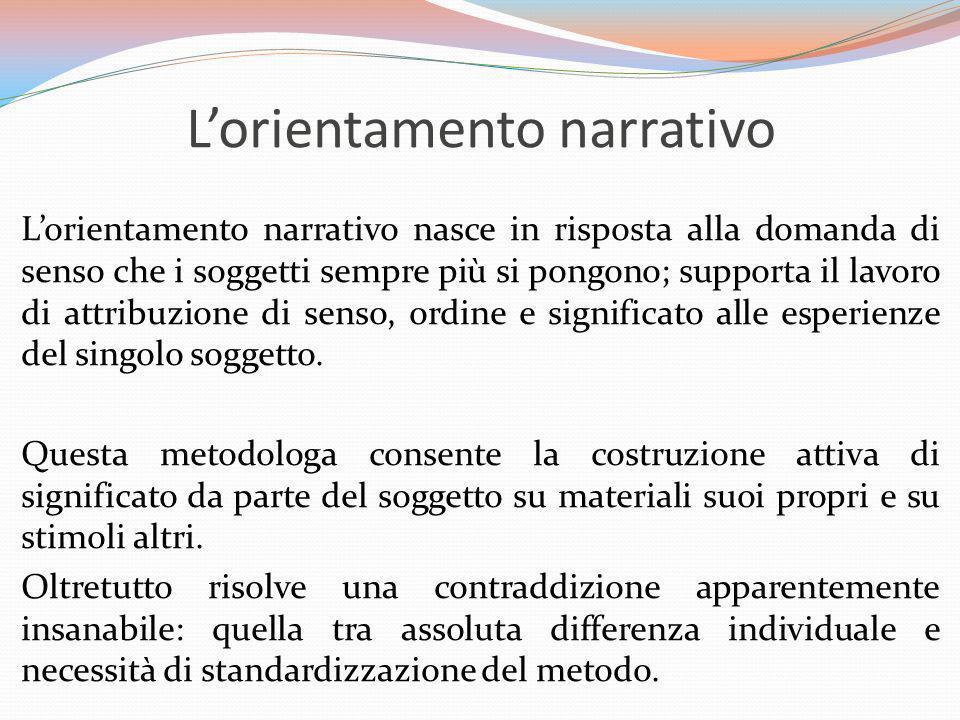 L'orientamento narrativo