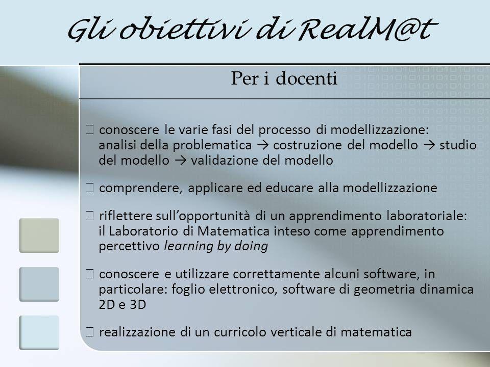 Gli obiettivi di RealM@t