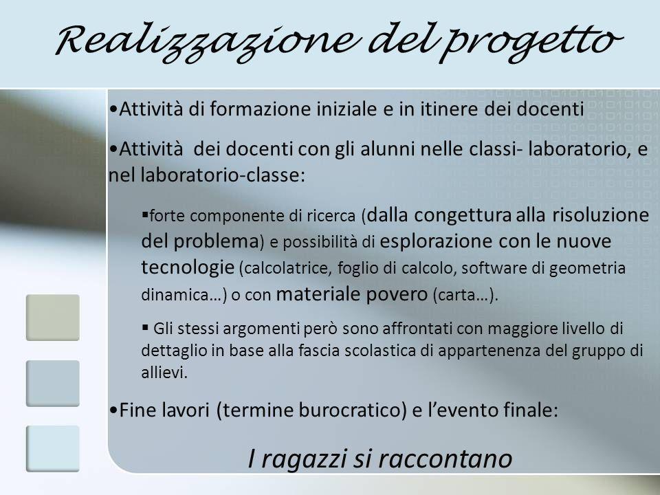 Realizzazione del progetto