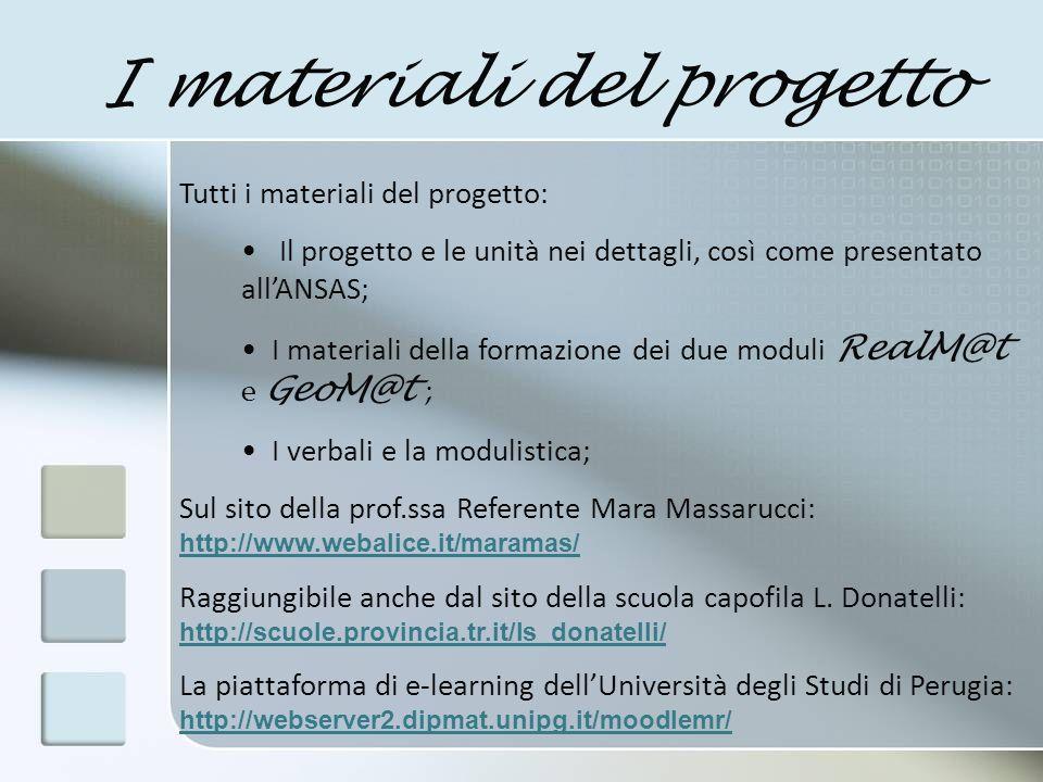 I materiali del progetto