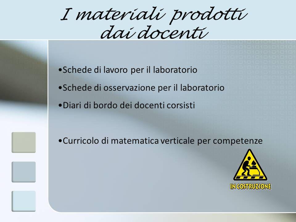 I materiali prodotti dai docenti