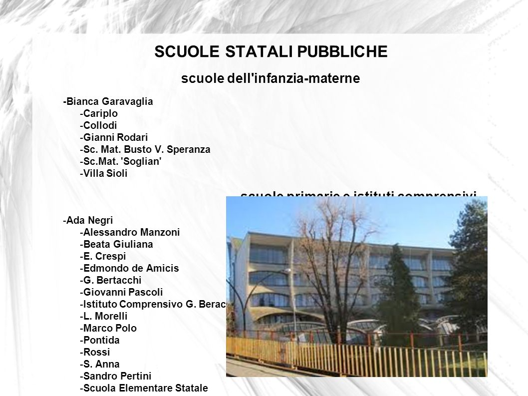 SCUOLE STATALI PUBBLICHE