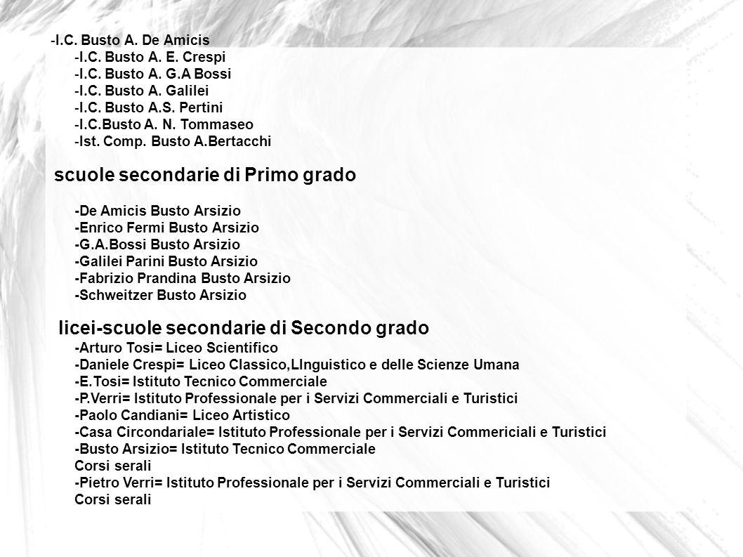 -I. C. Busto A. De Amicis -I. C. Busto A. E. Crespi -I. C. Busto A. G