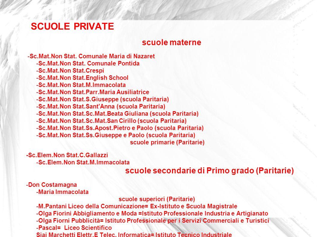 SCUOLE PRIVATE scuole materne.