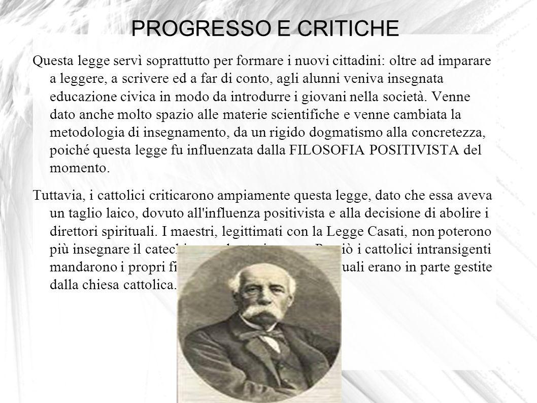 PROGRESSO E CRITICHE